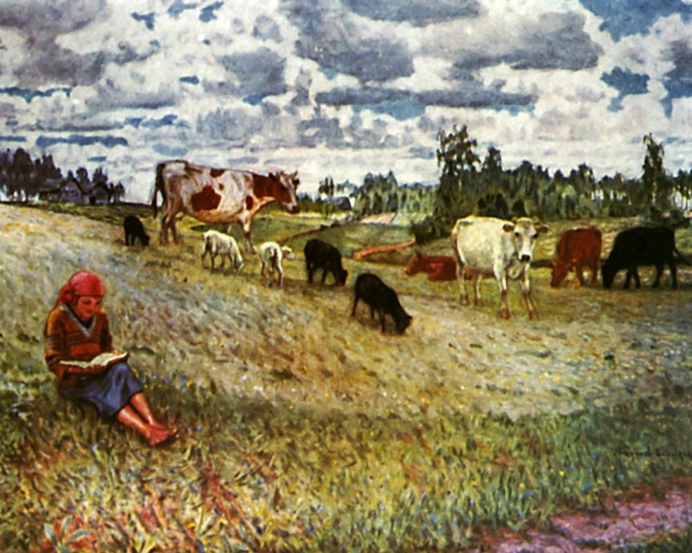 Николай Петрович Богданов-Бельский. Пастушка