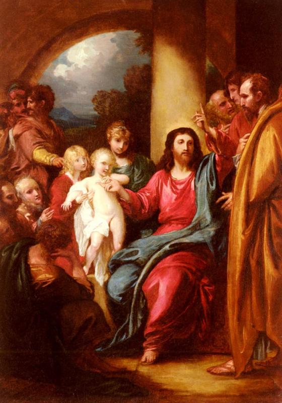 Бенджамин Уэст. Иисус показывает младенца