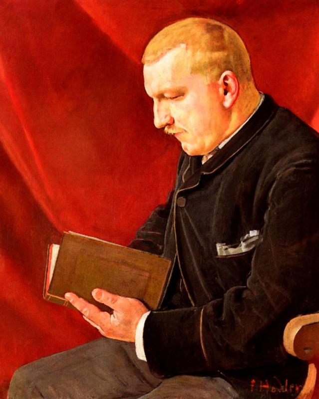 Фердинанд Ходлер. Читающий мужчина