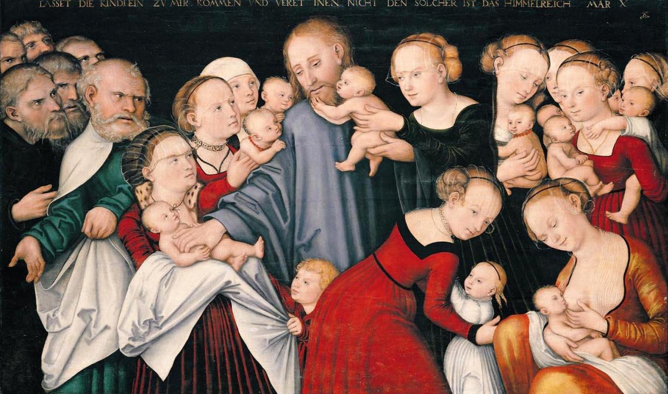 Лукас Кранах Старший. Христос благословляет детей
