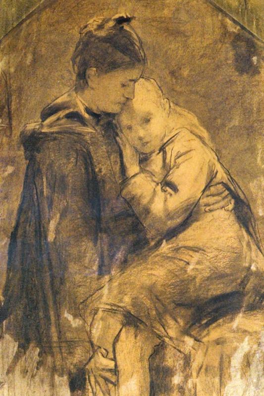 Альберт Анкер. Мать и ребенок