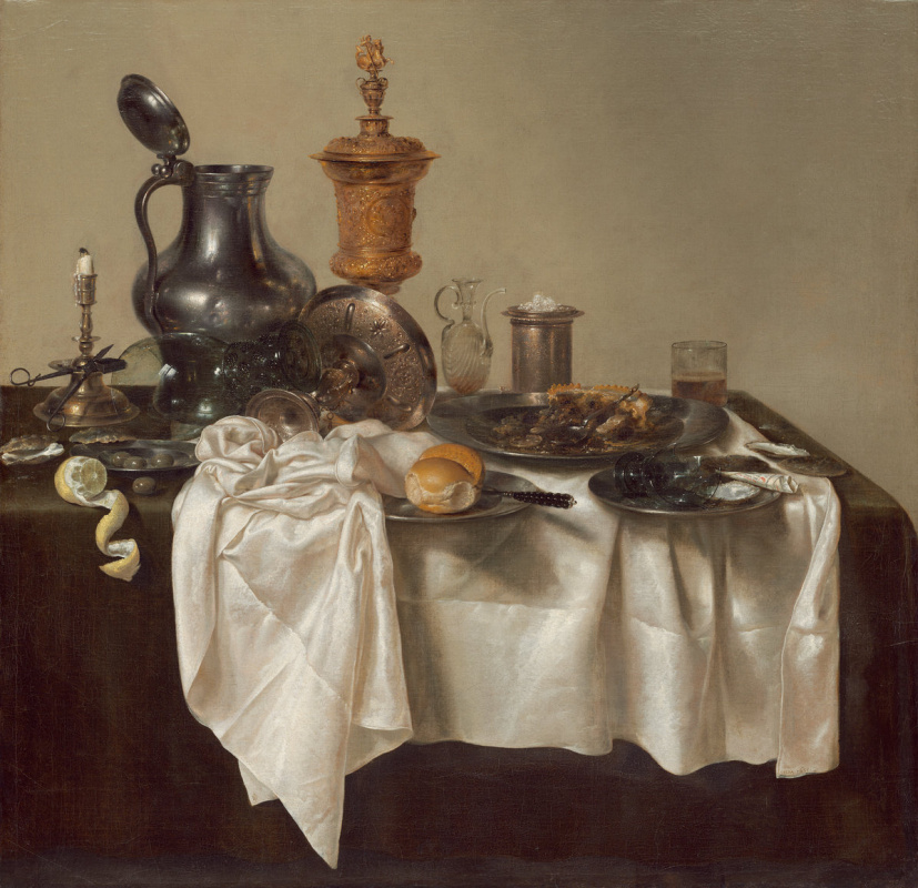 Willem Claesz Heda. Banquet Piece with Mince Pie