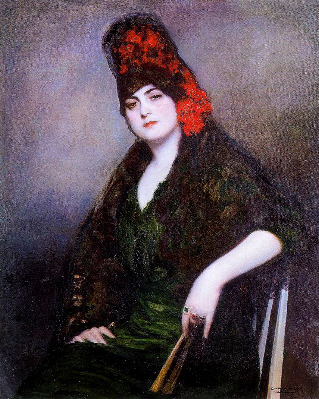 Ramon Casas i Carbó. Rosary (Portrait of Julia in Mantilla)