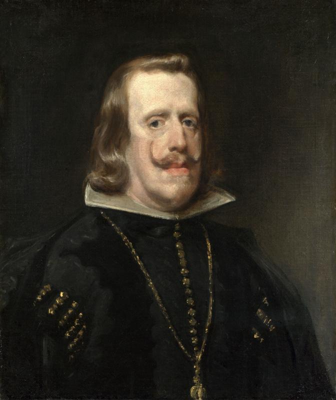Diego Velazquez. Portrait of king Philip IV