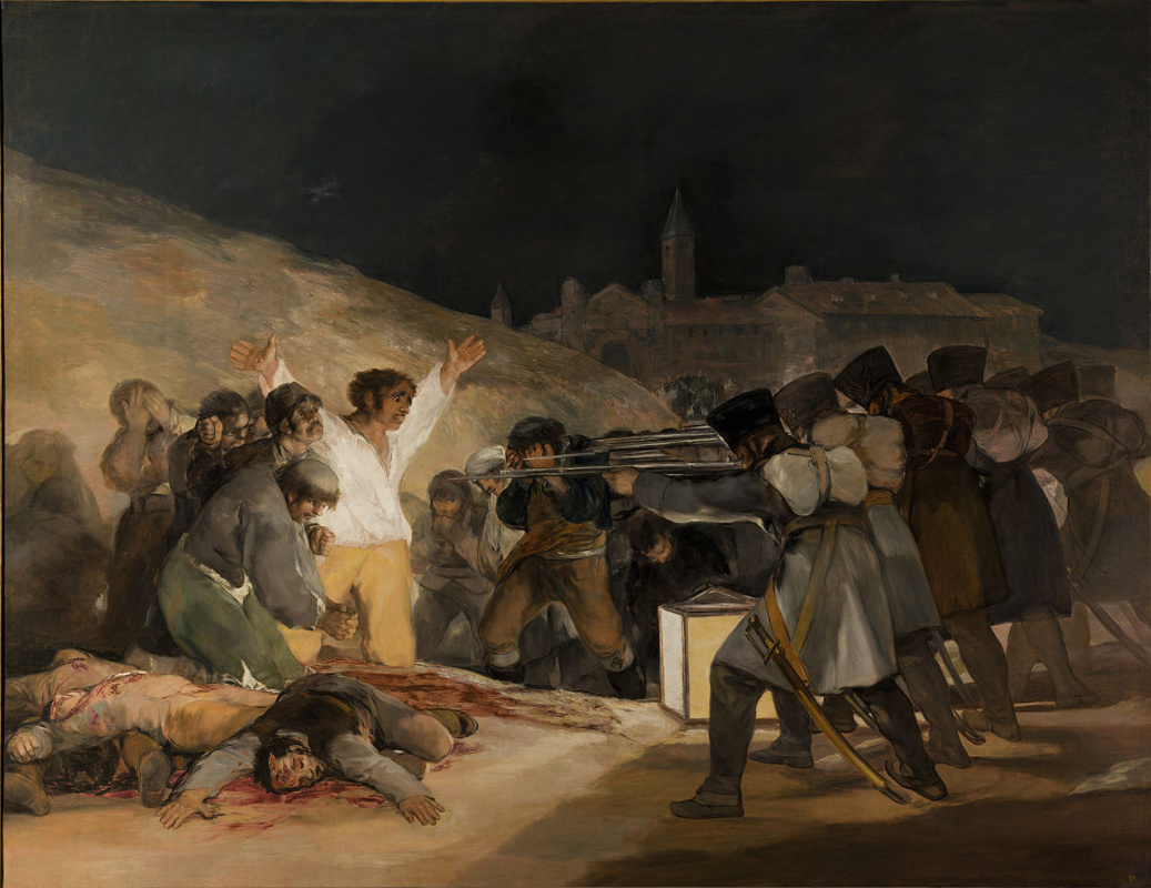 Francisco Goya. The shooting of the rebels of 3 may 1808 in Madrid