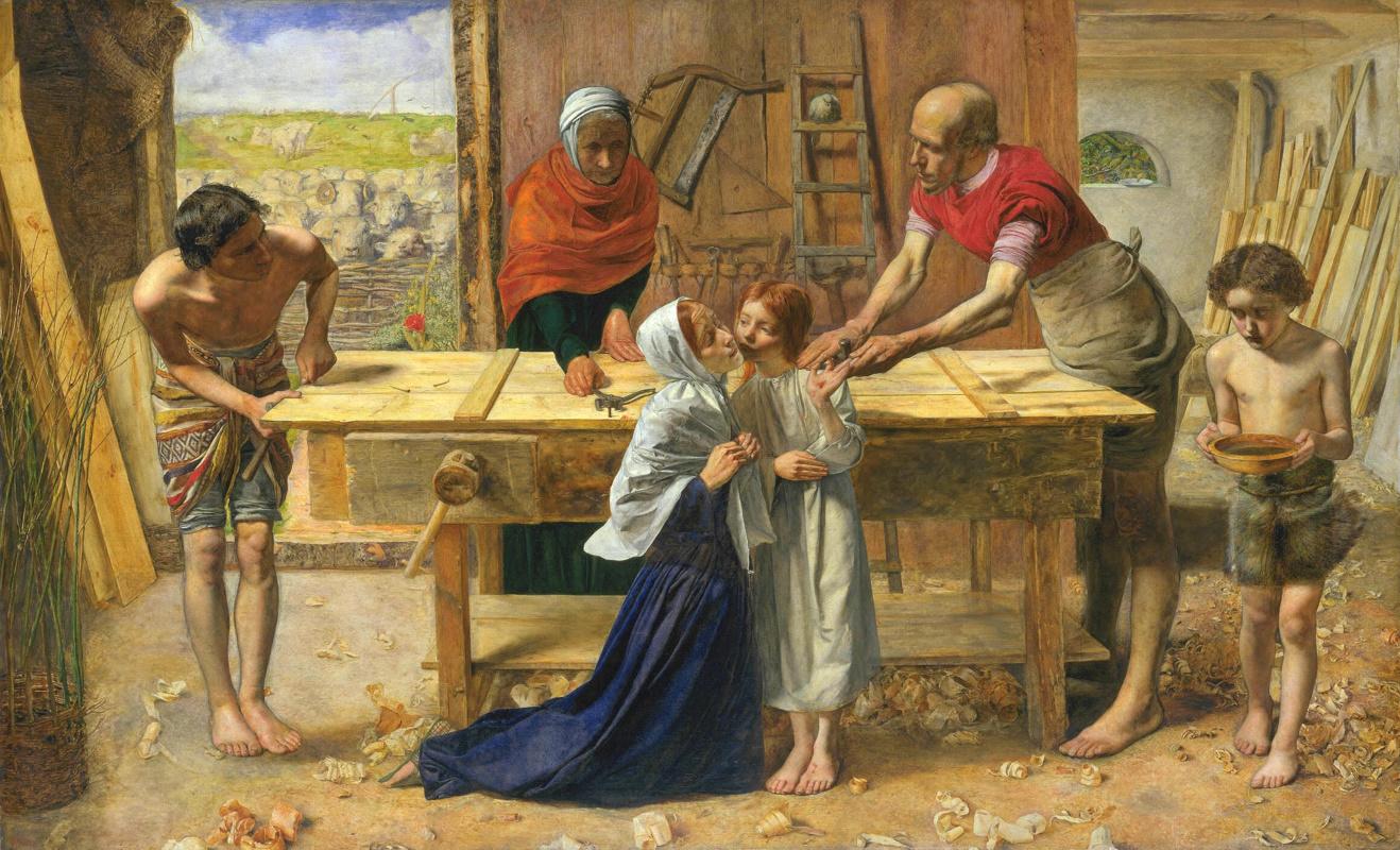 Джон Эверетт Милле. Христос в доме своих родителей