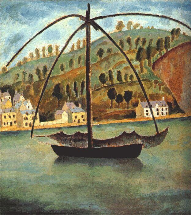 Дора Каррингтон. Рыболовное судно в Средиземном море