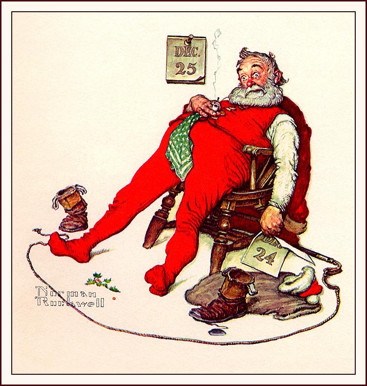 Норман Роквелл. Уставший Санта