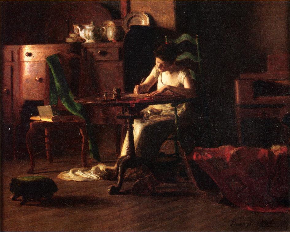 Томас Поллок Аншутц. В темной комнате