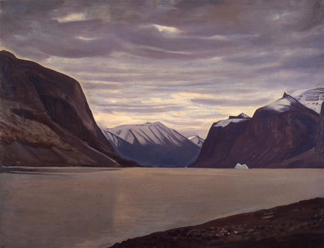 Рокуэлл Кент. Пасмурный день. Фьорд в Северной Гренландии