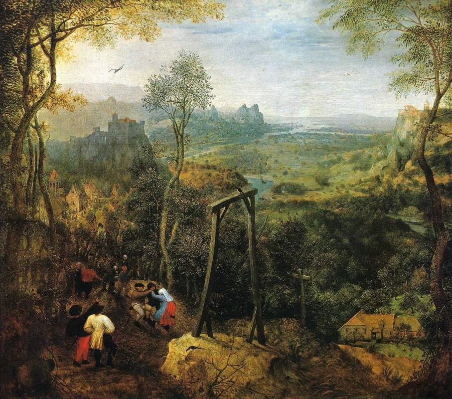 Pieter Bruegel The Elder. Magpie on the gallows