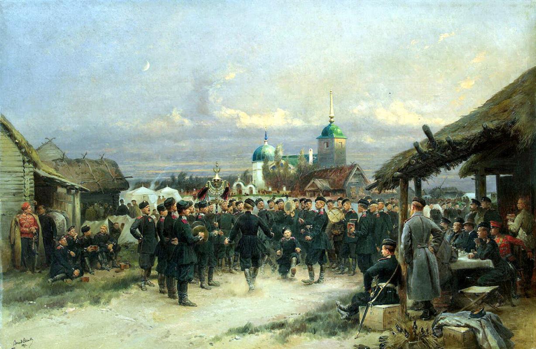 Жан-Батист Эдуард Детайль. Песенники IV Стрелкового батальона в Царском Селе