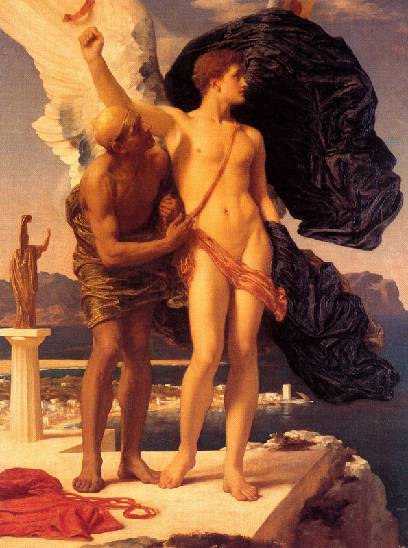 Frederic Leighton. Daedalus and Icarus