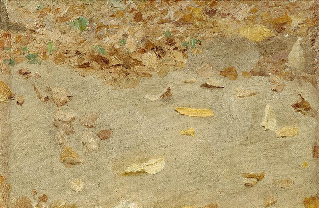 """Исаак Ильич Левитан. Осенние листья. Этюд для картины """"Осенний день. Сокольники"""""""
