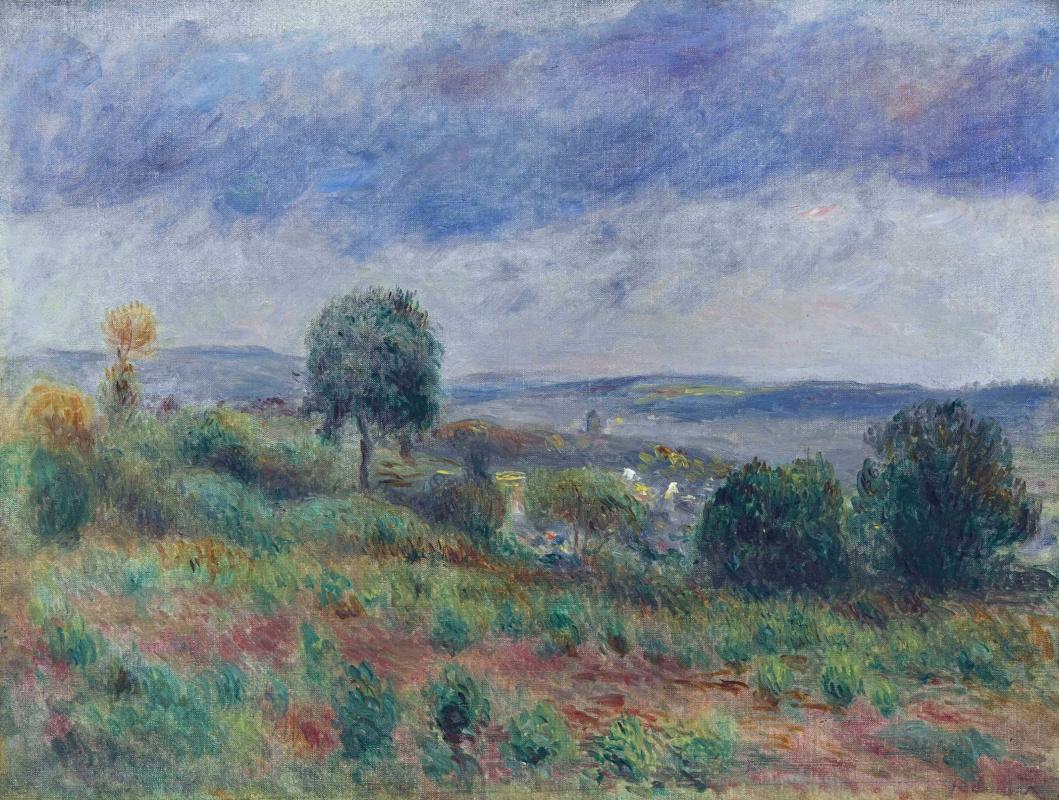 Пьер Огюст Ренуар. Пейзаж в Овер-сюр-Уазе
