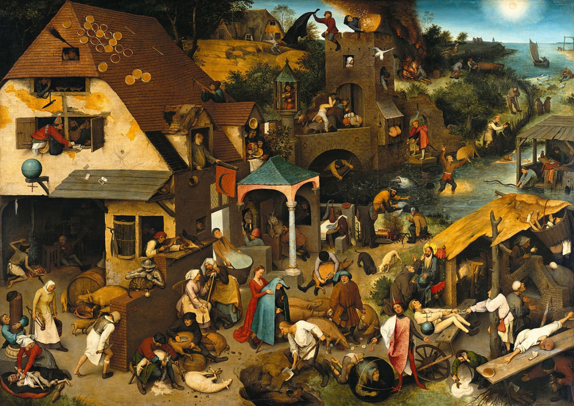 Pieter Bruegel The Elder. Flemish proverbs
