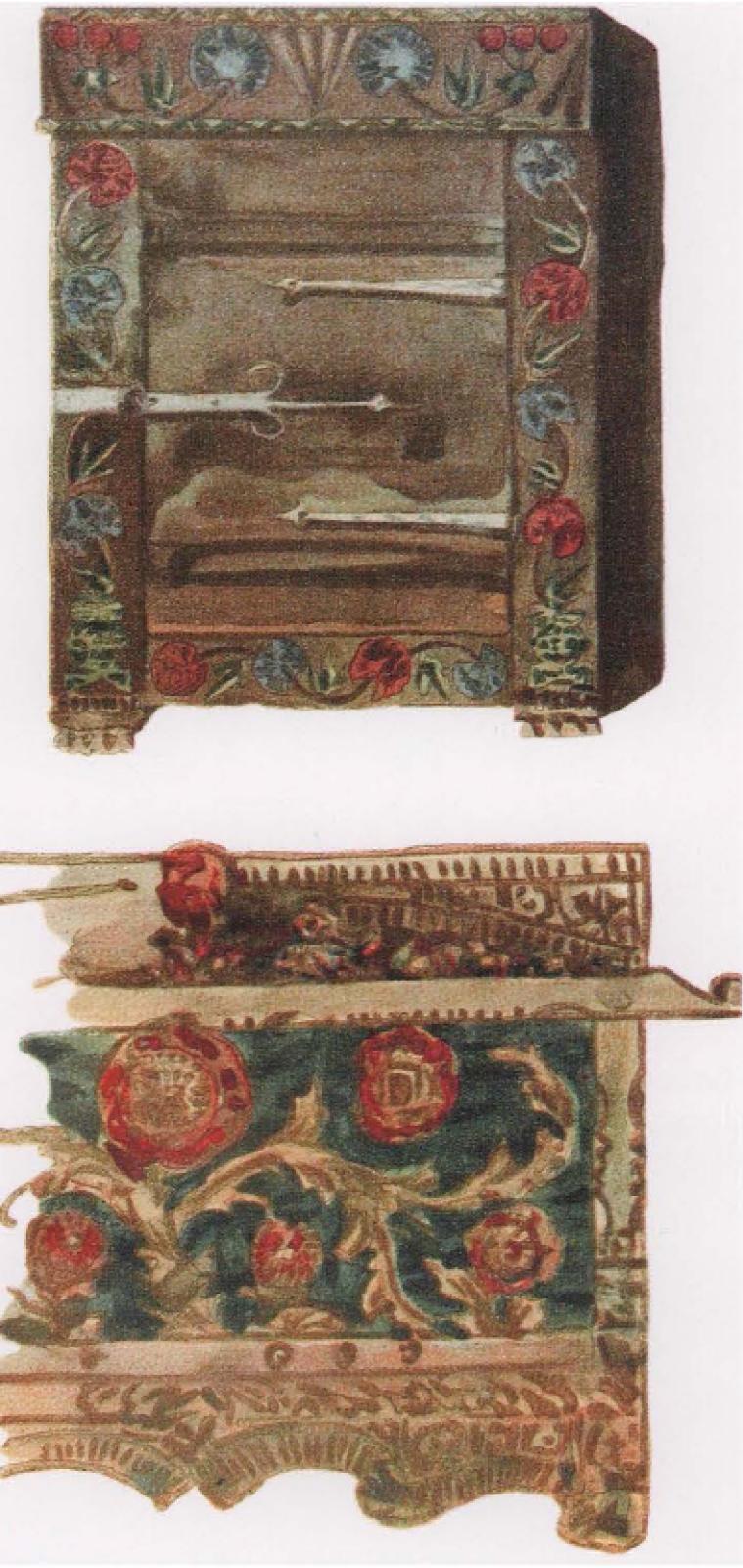 Елена Дмитриевна Поленова. Эскизы деревянной резной мебели