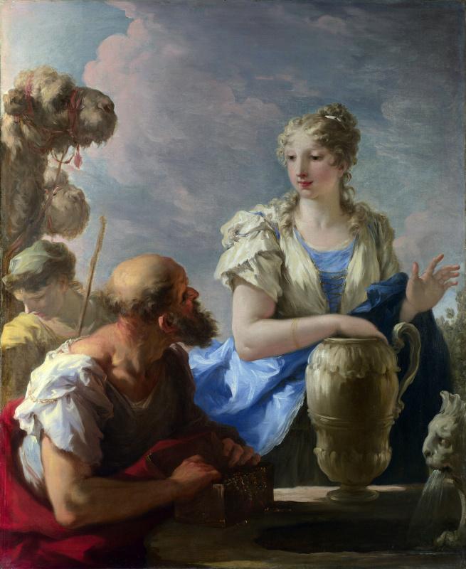 Giovanni Antonio Pellegrini. Rebekah at the well