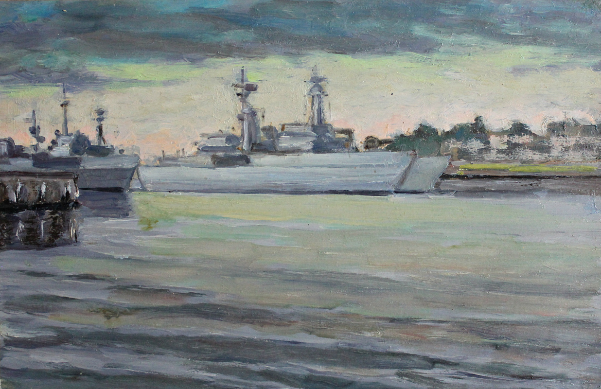 Victor Andreevich Chepurko. Visit of NATO ships to the city on the Neva