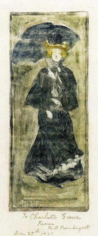 Морис Брэзил Прендергаст. Женщина с зонтиком