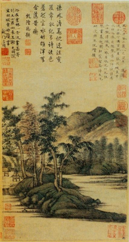 Ни Цзань. Воды и бамбуковый домик