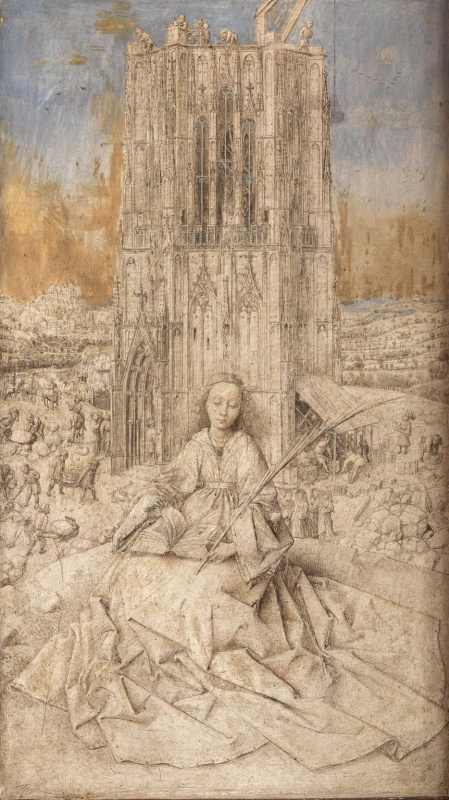 Jan van Eyck. Saint Barbara