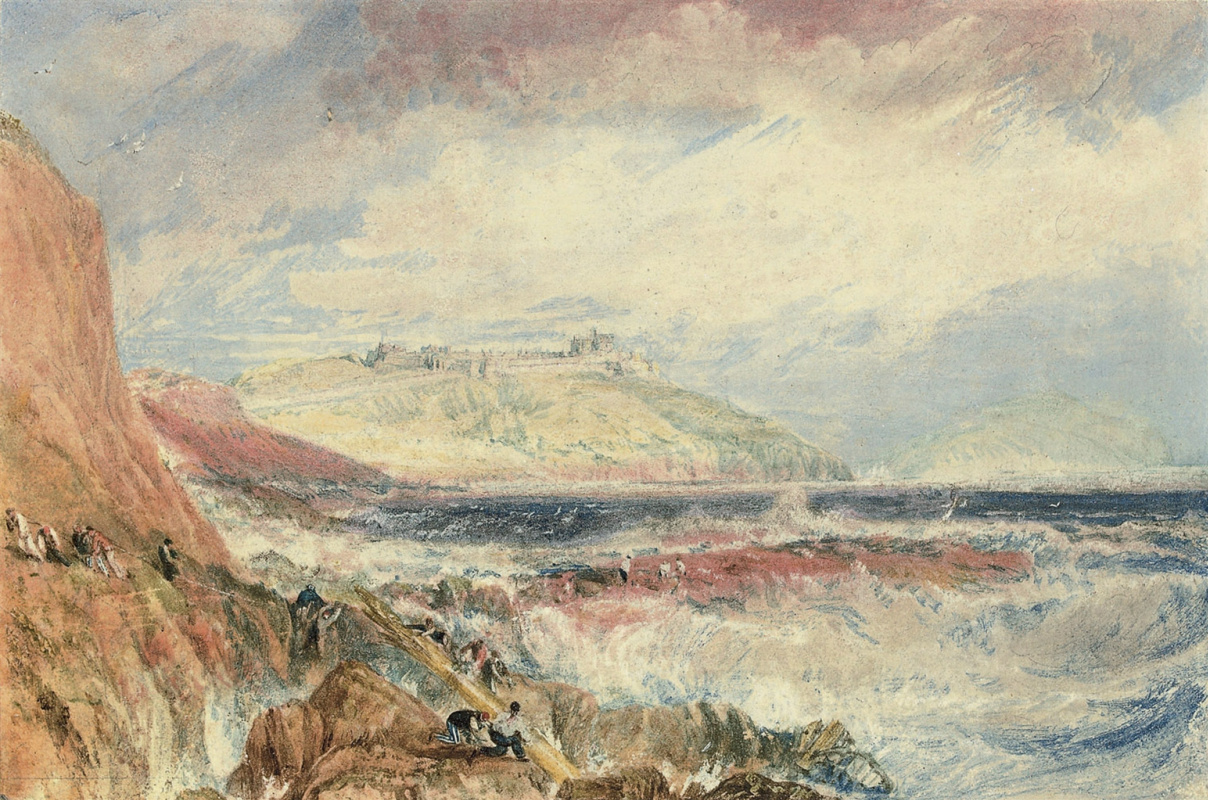 Joseph Mallord William Turner. The Pendennis castle and entrance to Falmouth Bay, Cornwall