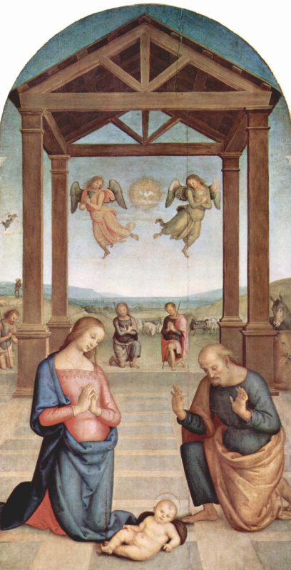 Пьетро Перуджино. Алтарь св. Августина. Поклонение пастухов