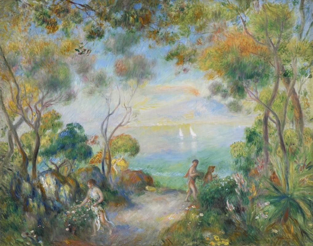 Pierre-Auguste Renoir. A garden in Sorrento