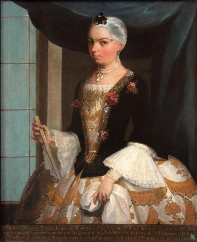 Juan Patricio Morlette Ruiz. Portrait of Doña Maria Tomasa Durán López de Cárdenas