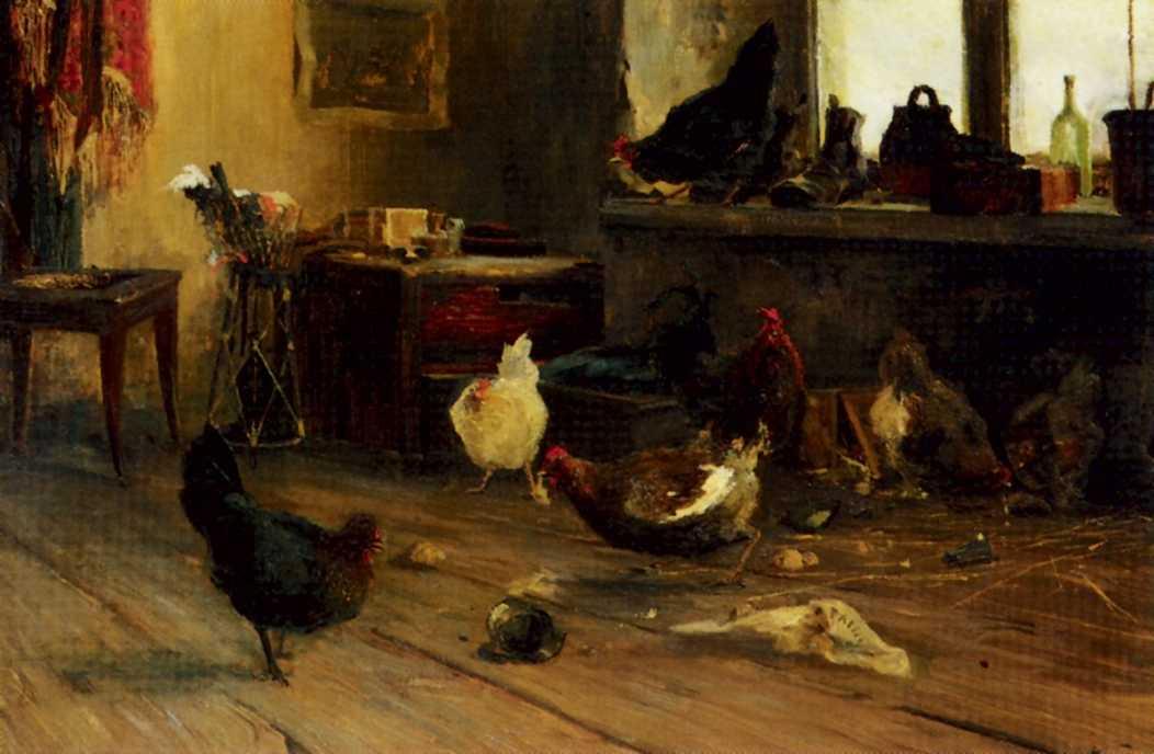 Gennady Aleksandrovich Ladyzhensky. Chickens