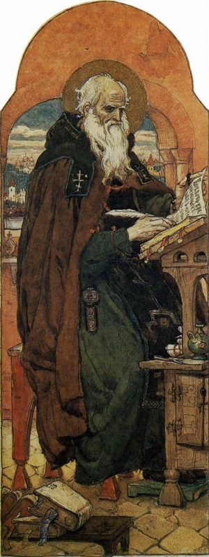 Victor Mikhailovich Vasnetsov. Nestor the chronicler. The sketch for the painting of the Vladimir Cathedral in Kiev