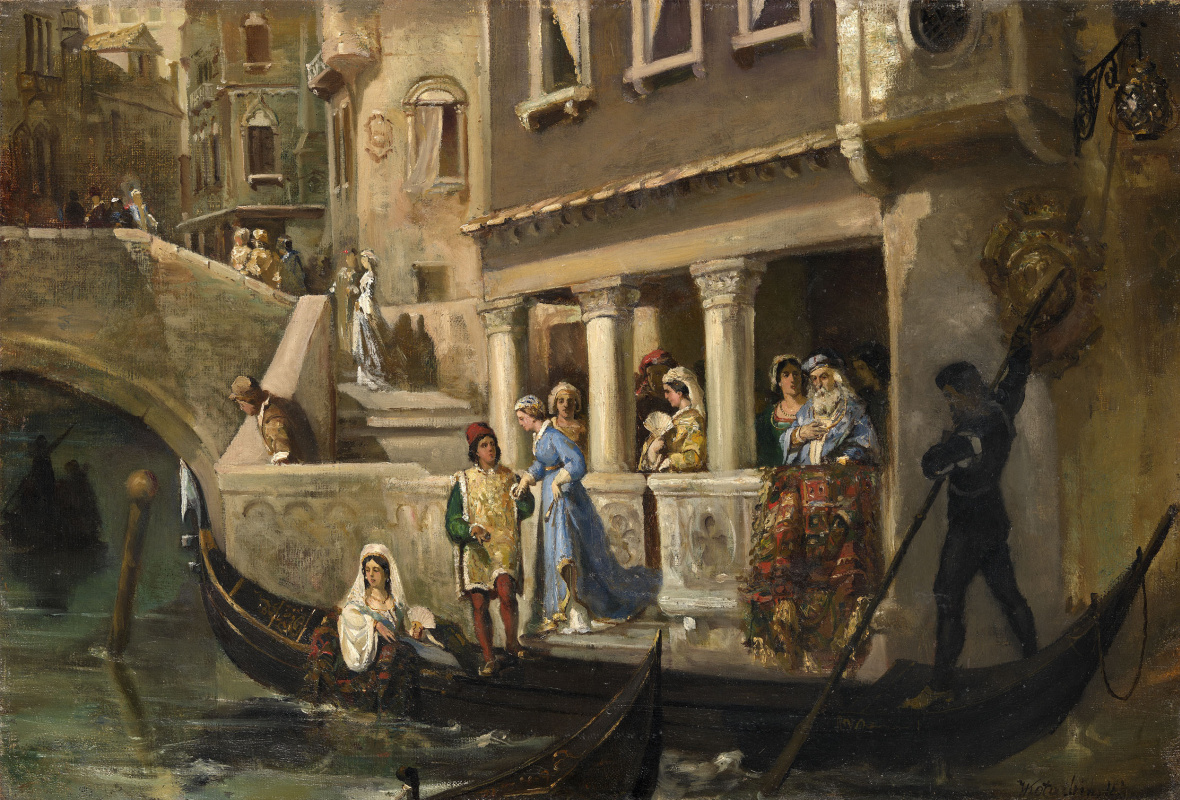 Вильгельм Александрович Котарбинский. Посадка в гондолу венецианской знати