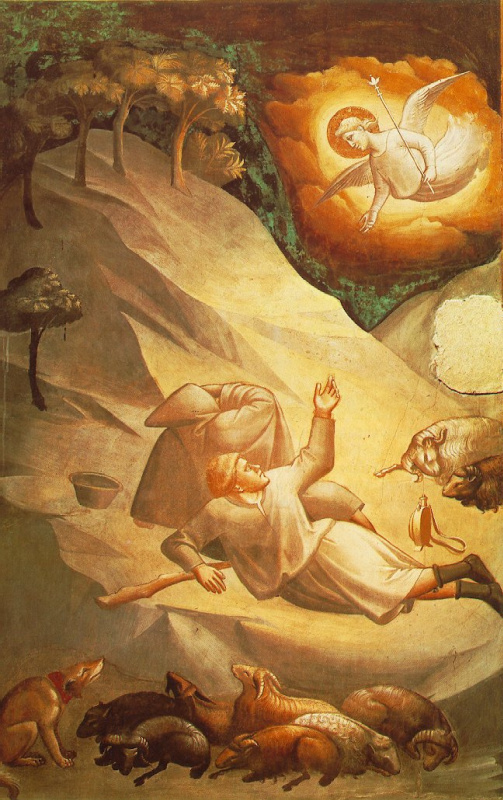 Taddeo Gaddi. Angelic phenomenon