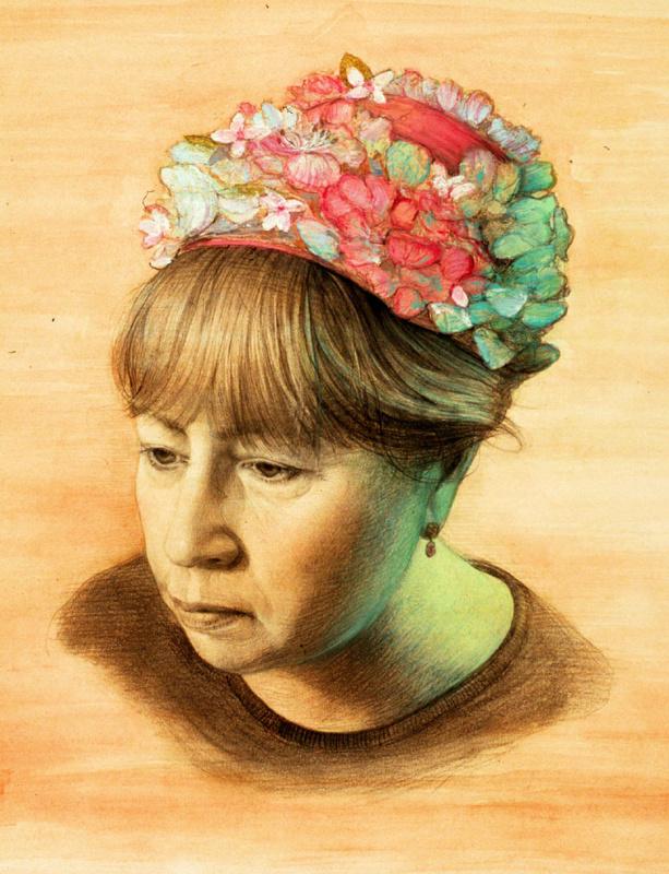 Габриэла Деллоссо. Цветочная шляпа