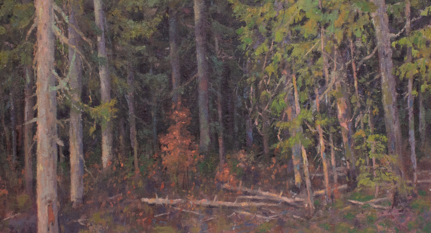 Igor Igorevich Krieger. The beginning of autumn in the forest