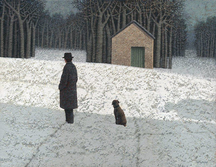 Марк Эдвардс. A man, a dog and a house with a green door