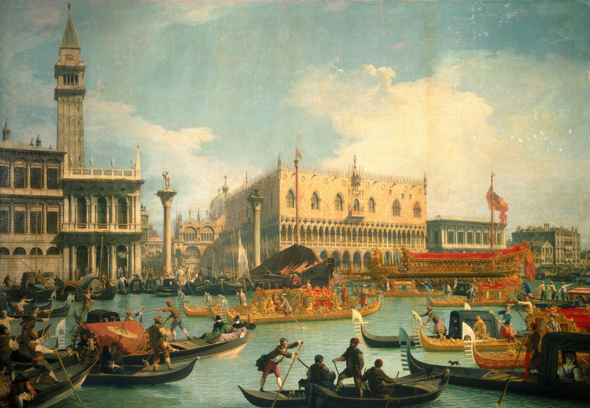 Giovanni Antonio Canal (Canaletto). Return of Buchintoro to the pier at the Doge's Palace