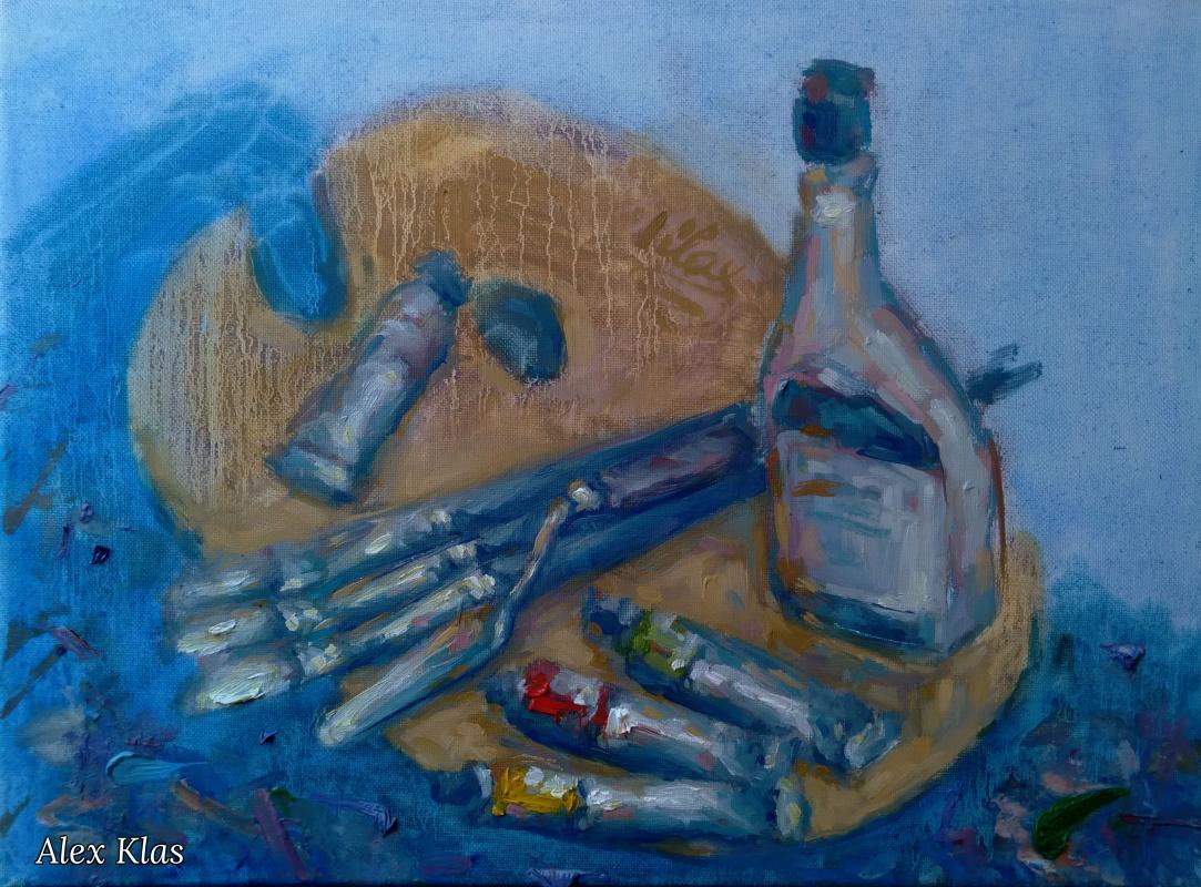 Alex Klas. Palette of Artist