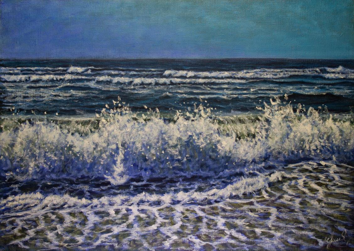 Valery Levchenko. № 619  Морской пейзаж.
