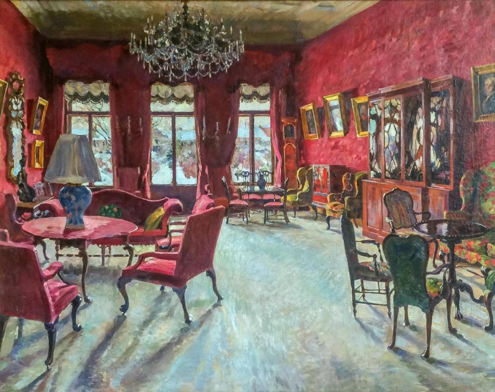 Sergey Arsenievich Vinogradov. Red living room