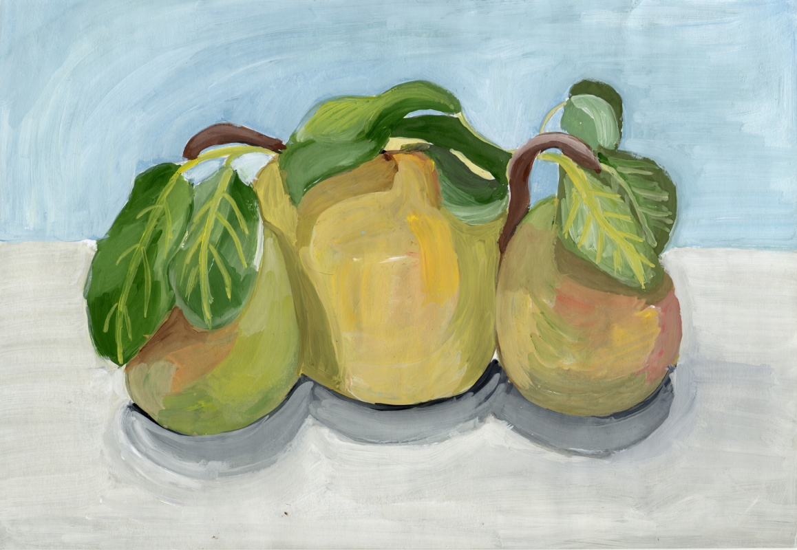 Polina. Sketch with pears