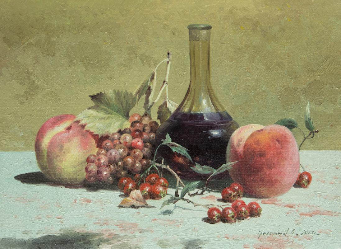Vasily Ivanovich Gribennikov. Still life with a decanter