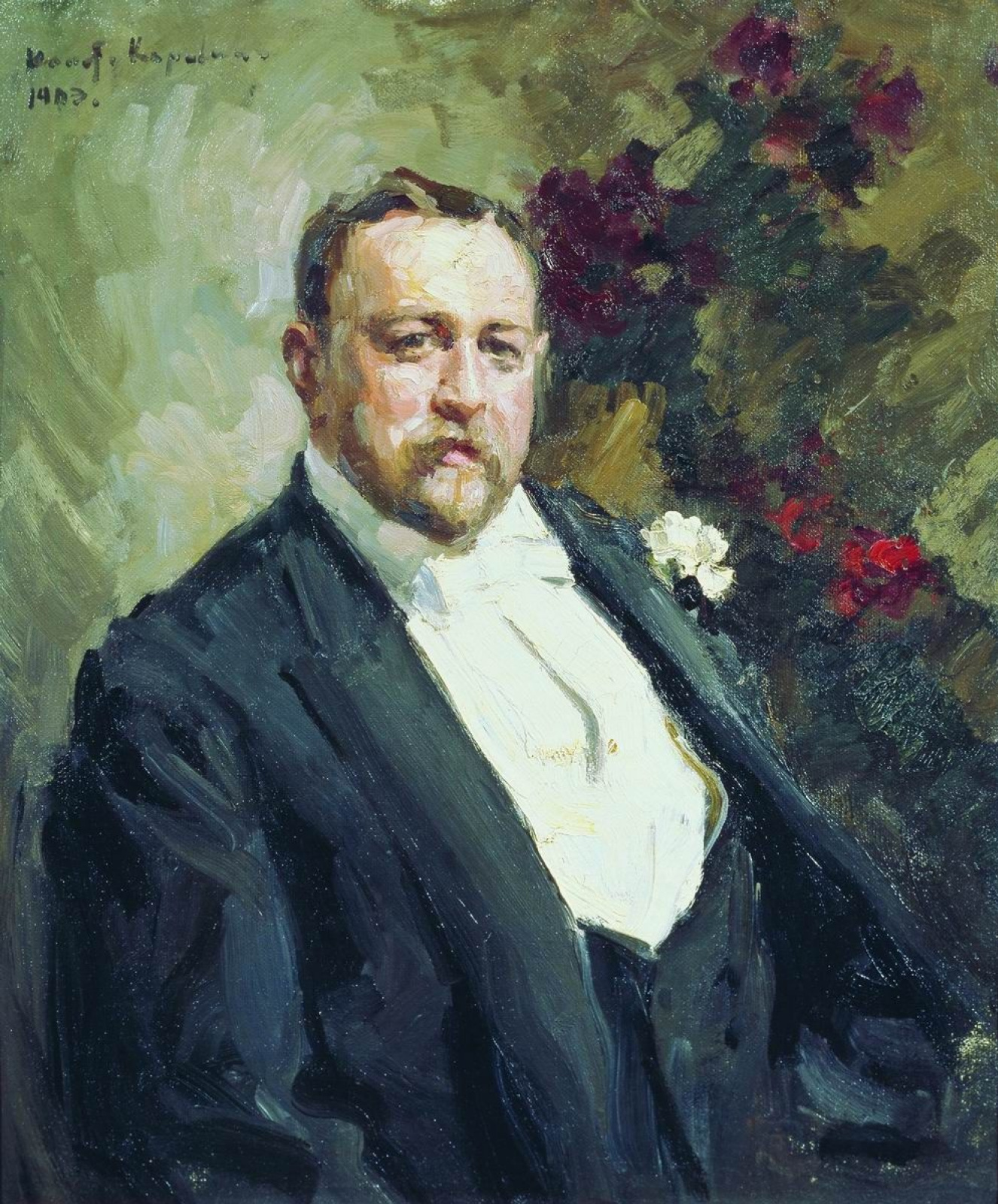 Константин Алексеевич Коровин. Портрет И.А. Морозова
