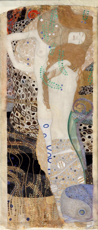 Gustav Klimt. Girlfriend (Water serpents I)