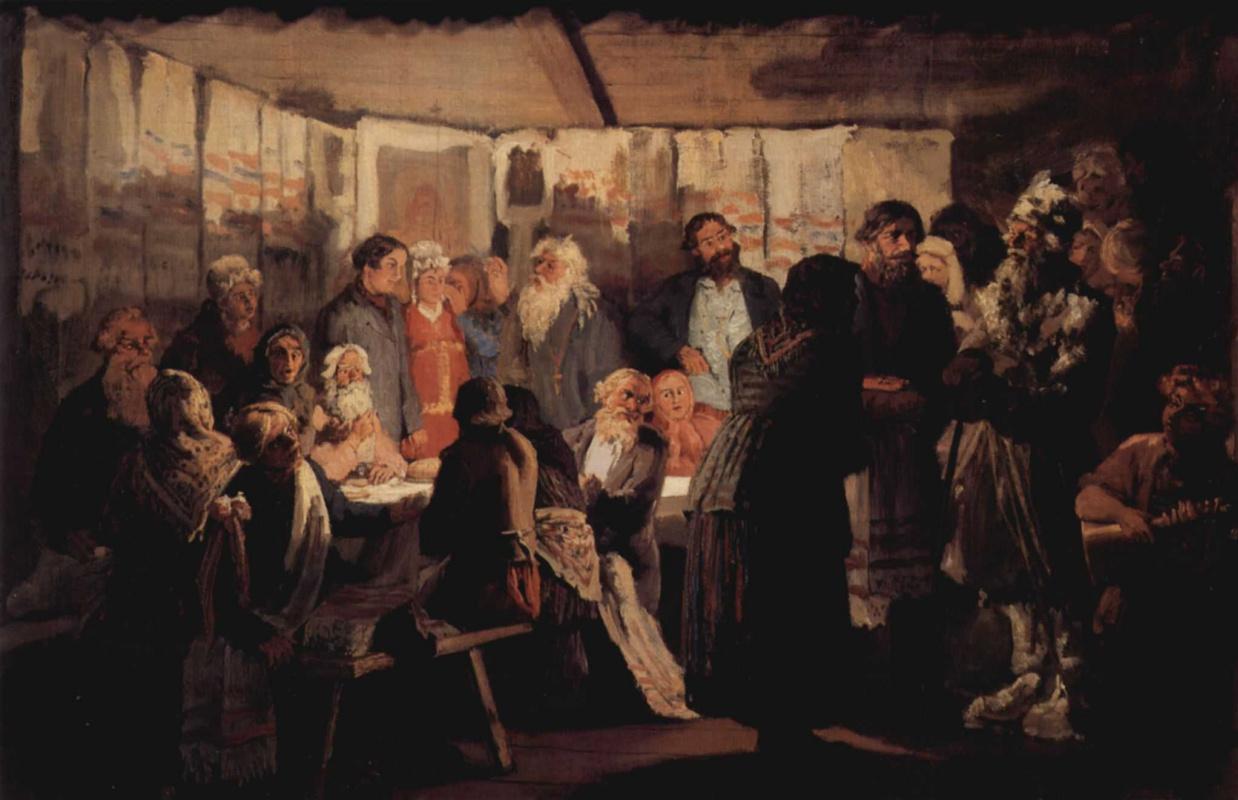 Vasily Maksimovich Maksimov. Witch doctor in the village wedding