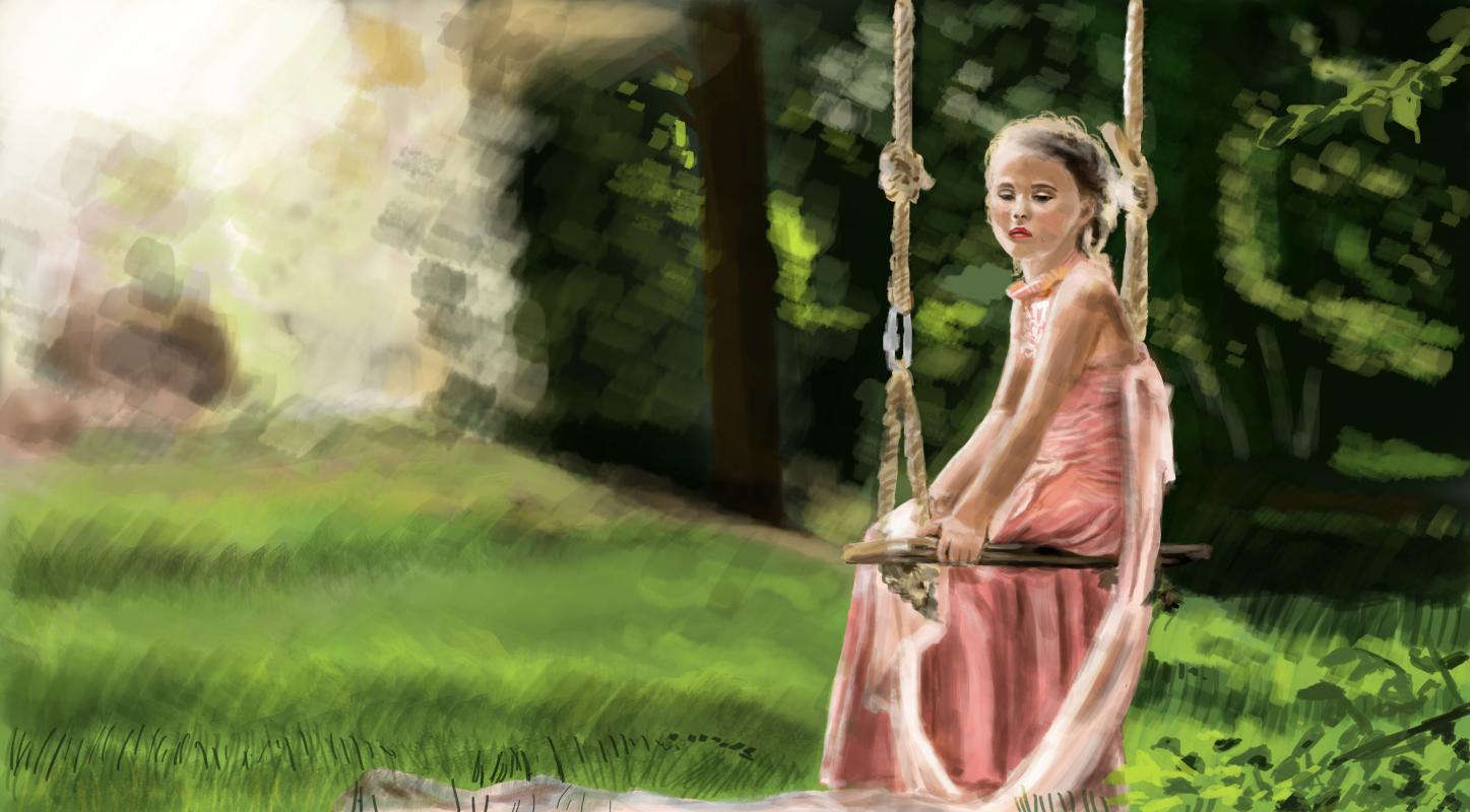 Christopher Rozario. Little Girl Sitting