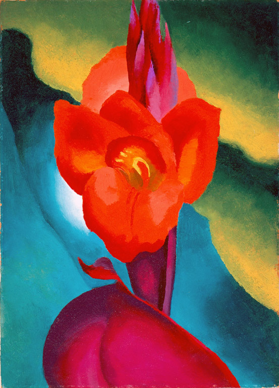 Georgia O'Keeffe. Red Canna