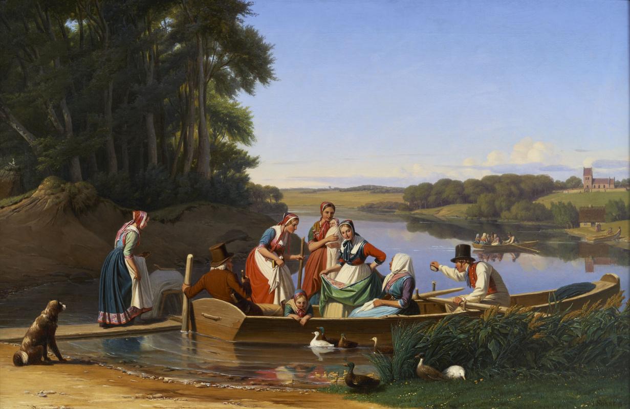 Jergen Valentine Sonne. Infant Baptism in North Zealand