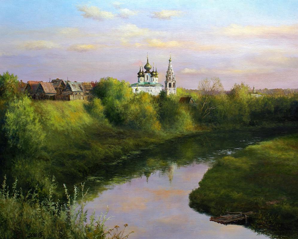 Сергей Владимирович Дорофеев. Evening over Suzdal. August
